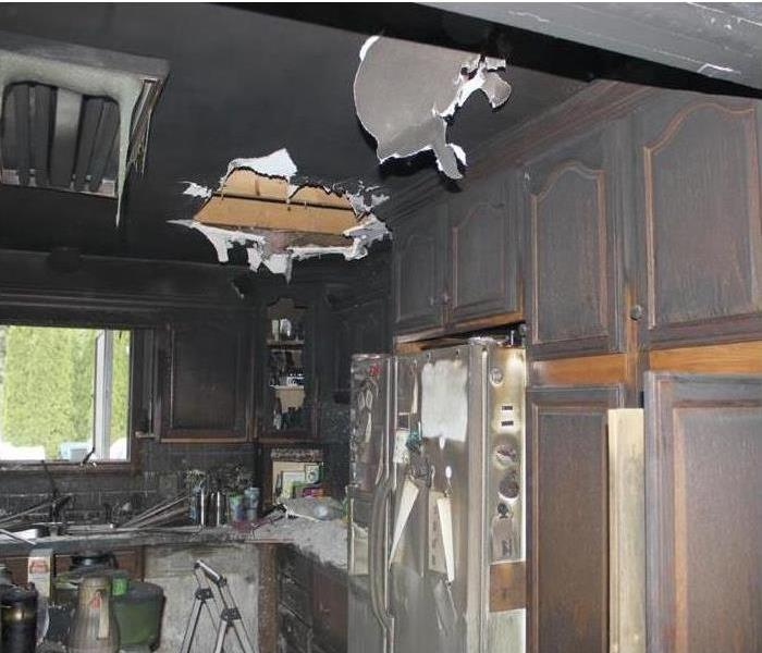 Fire damage in local home Before