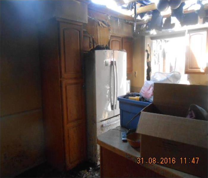 Fire Damage to Kitchen in Local Home Before