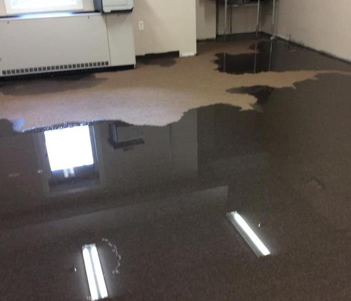 Flooding at Commercial Building